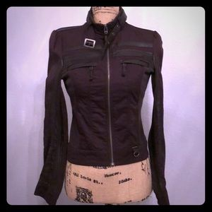 Blanc Noir brown Moto jacket